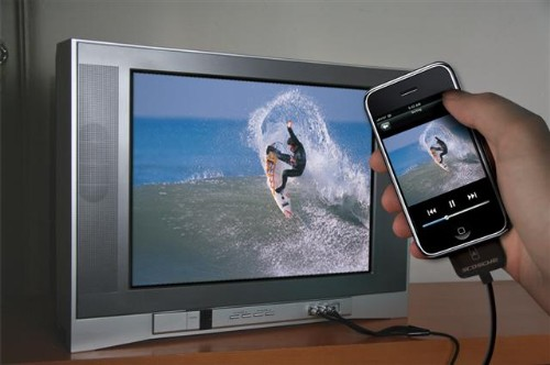 showtime conector iphone tv
