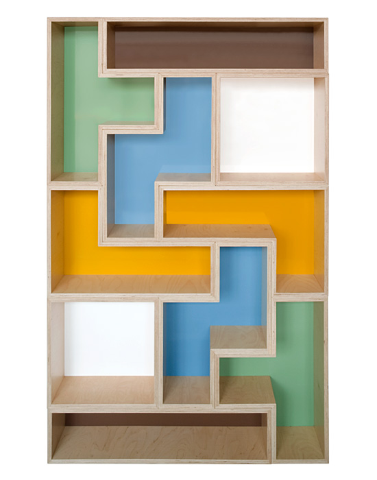 Estanter a de pared tetris - Estanterias diseno pared ...