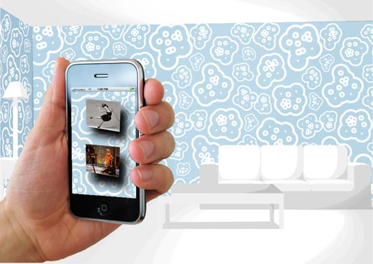 fablabwall iphone papel pared realidad aumentada