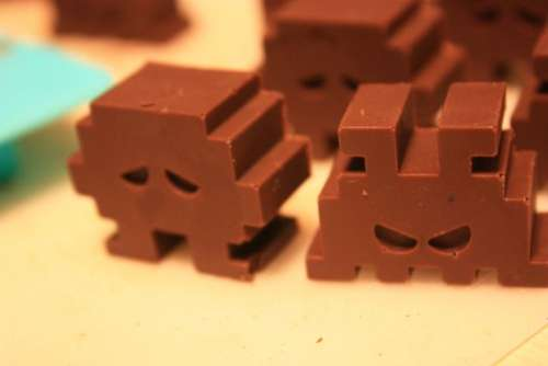 Chocolate-Space-Invaders