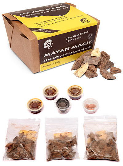 Kit para fabricar chocolate natural al estilo Maya